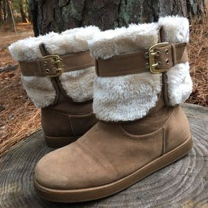 G by Guess Cold Weather Fur Aussie Bootie 10